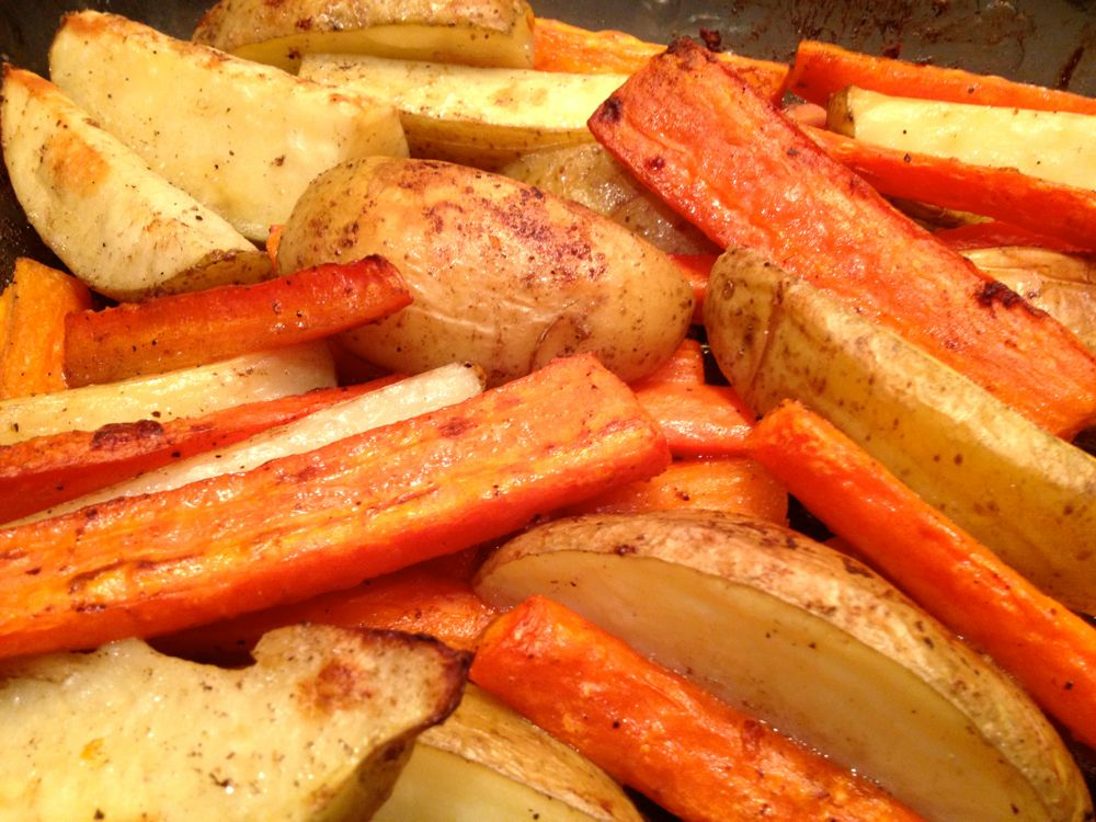 Roast Carrots and Potatoes