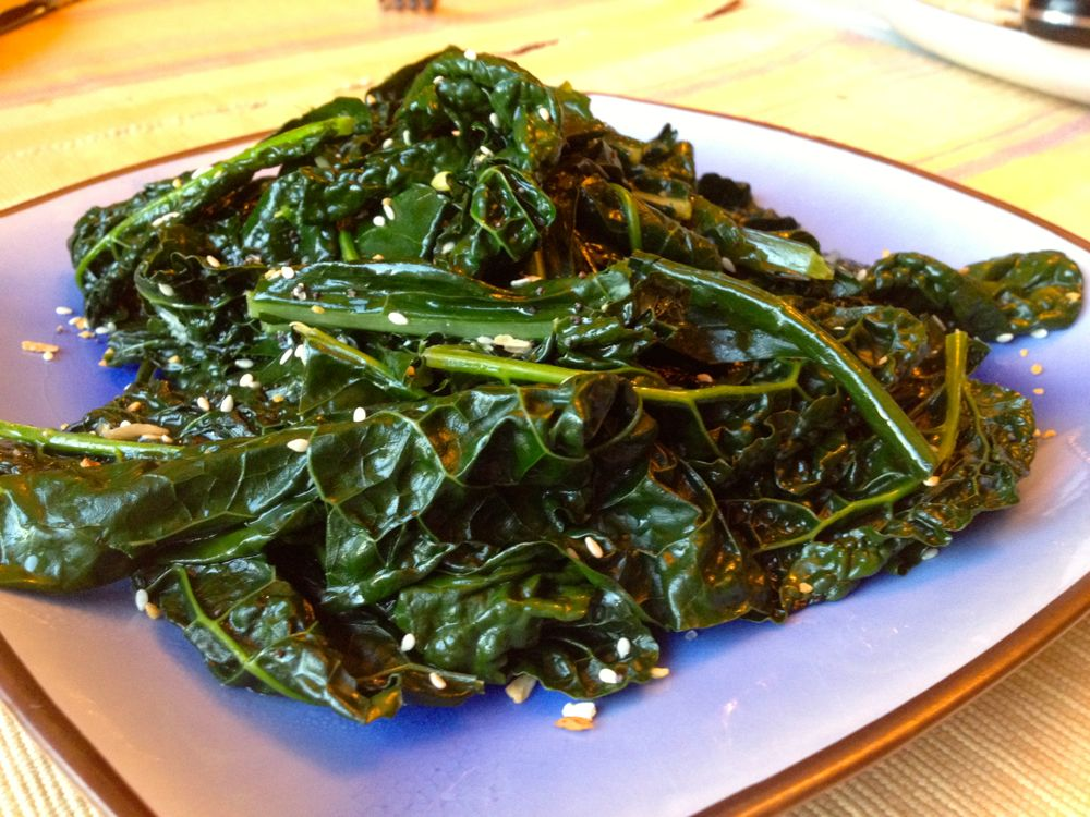 Sautéed Kale, Sweet and Delicious!