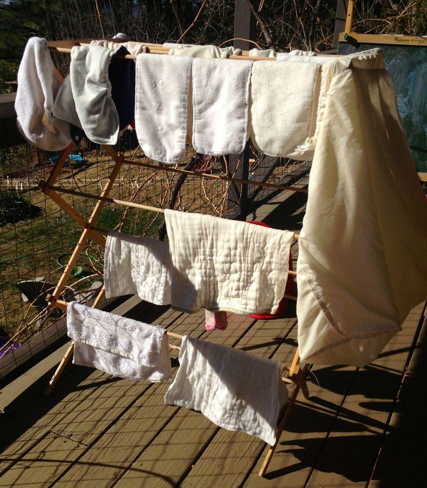 Cloth Diaper Drying