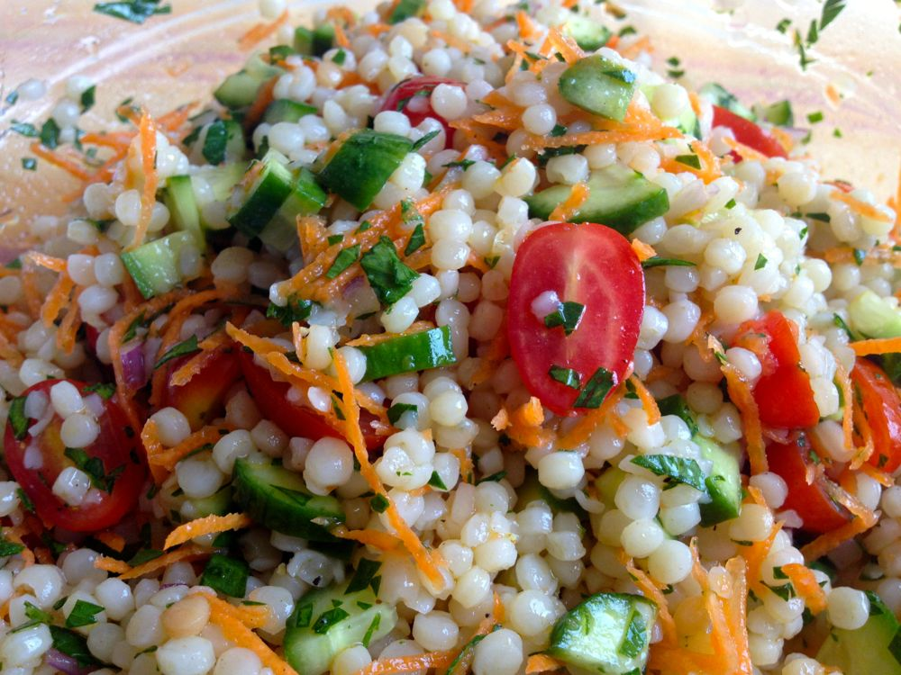 Israeli Couscous Salad - The Patchy Lawn