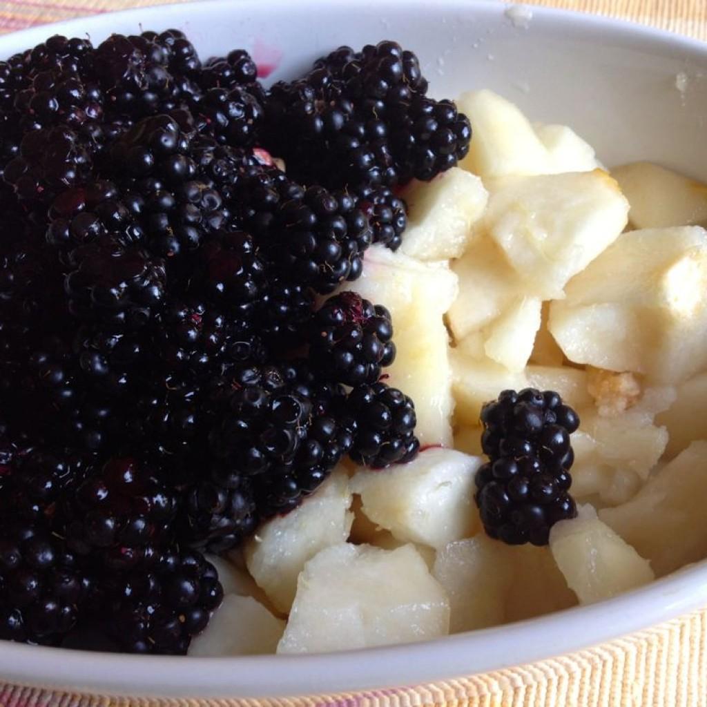 Blackberries and Pears