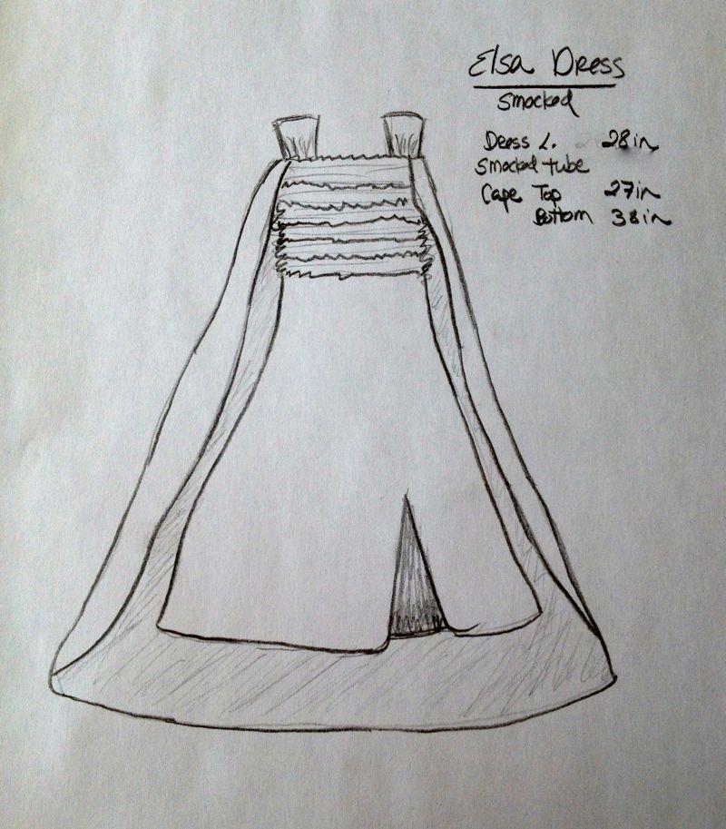 Elsa Dress Sketch