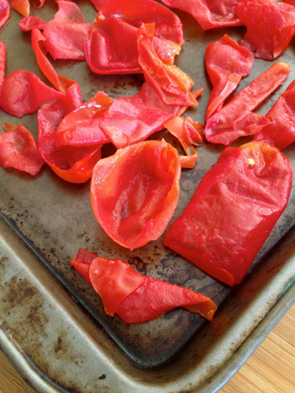 bake tomato skins
