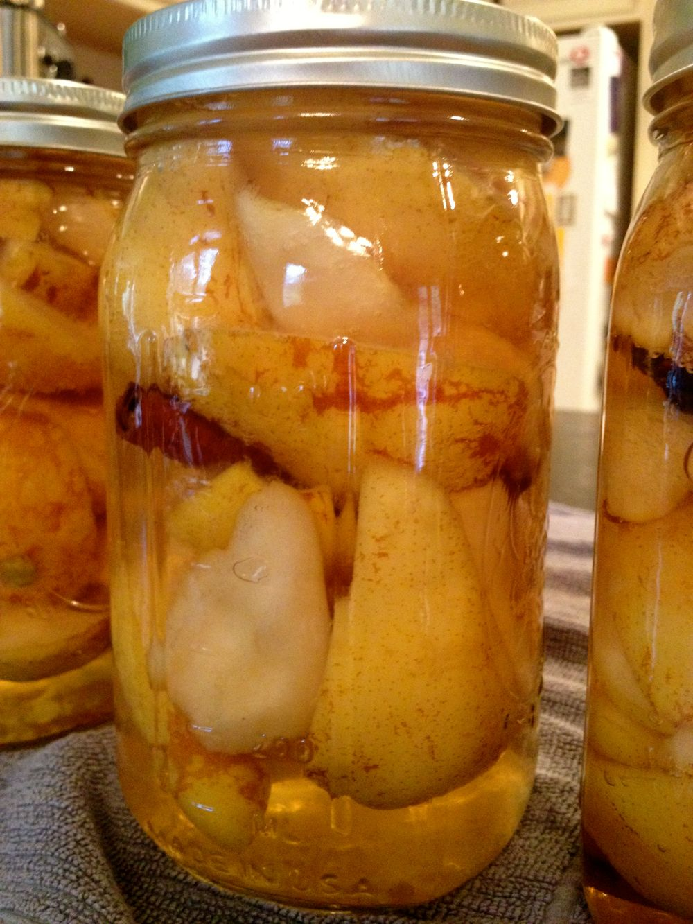 canning pears with skins