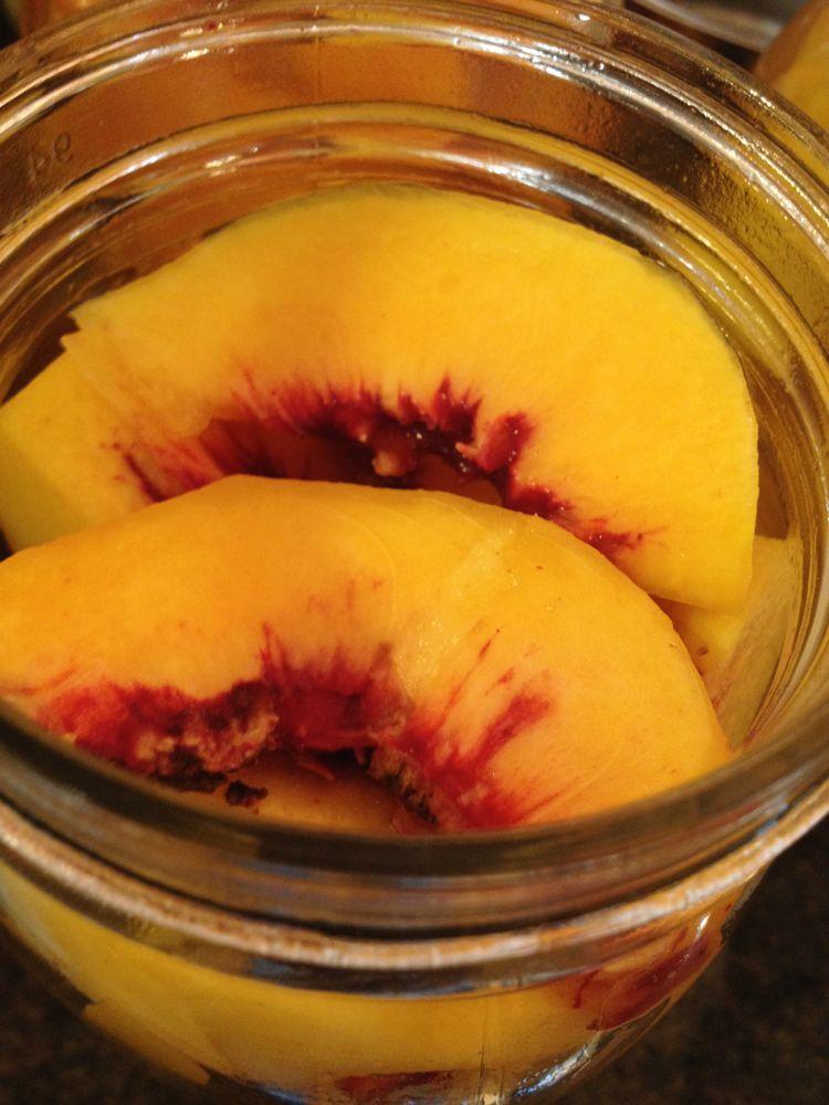 peaches in jar
