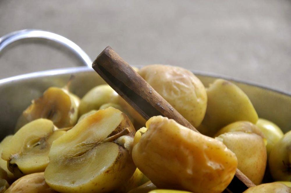 boiled apples