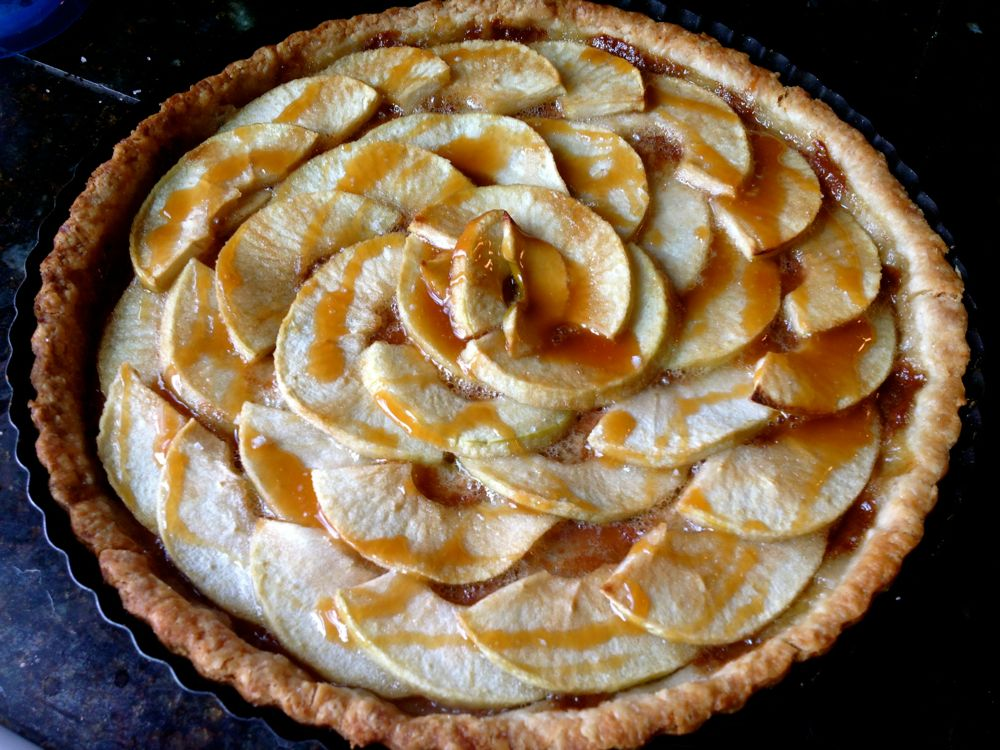 Caramelized Apple Tart Recipe — Dishmaps