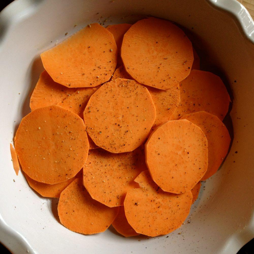 layer sweet potatoes