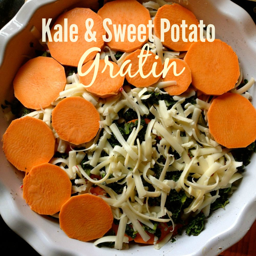 Sweet Potato Kale Gratin - The Patchy Lawn