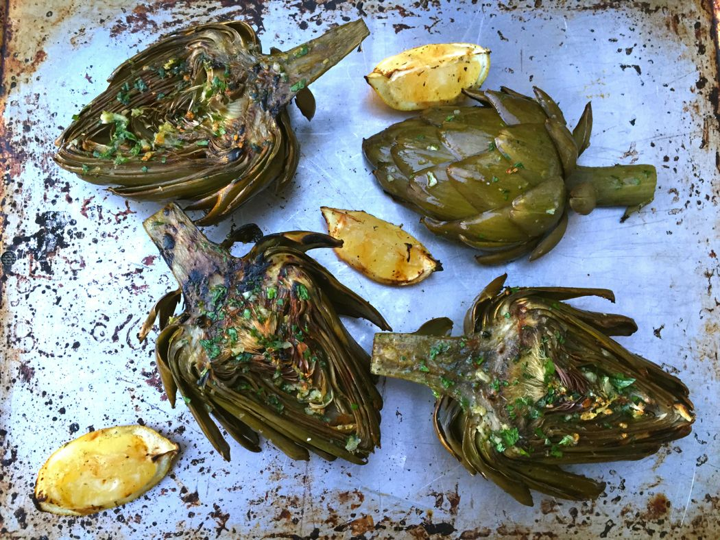 Grilled Artichokes- No Dip Sauce Required!