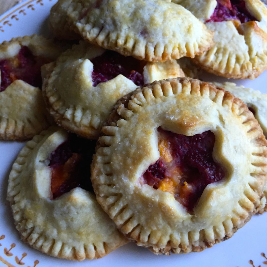 Raspberry and Peach Hand Pies