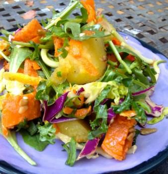 Greens Potato Salad with Orange Ginger Dressing
