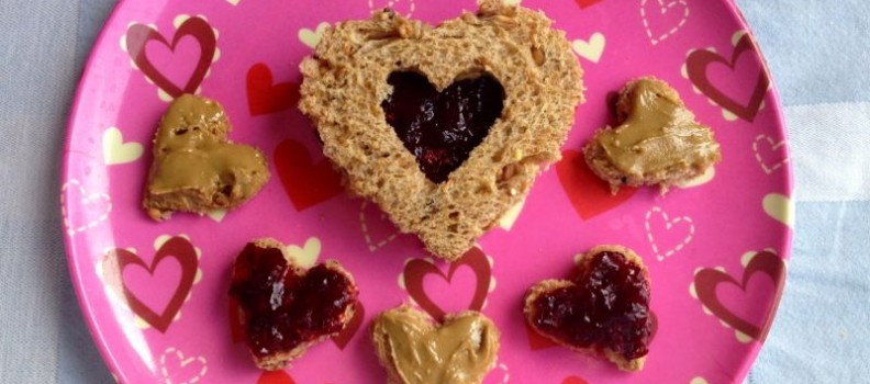 Lunch with Love- Heart Sandwiches