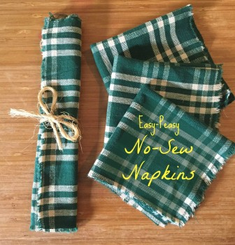 Easy-Peasy, No-Sew Cloth Napkins