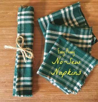 Easy-Peasy, No-Sew Cloth Napkins