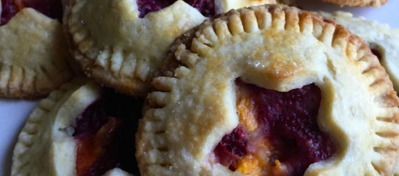 Raspberry and Peach Hand Pies