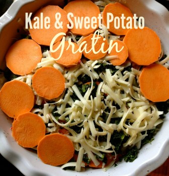 Sweet Potato Kale Gratin