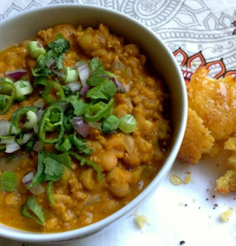 Pumpkin Chile with White Beans
