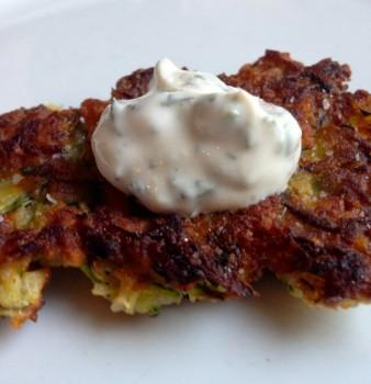 Panko and Parmesan Zucchini Fritters